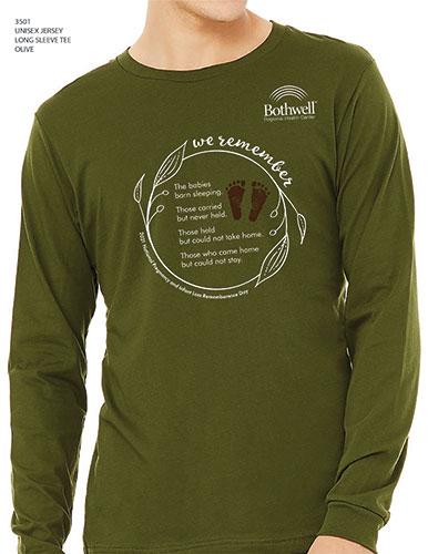2021 Infant Loss Rememberance Day long sleeve green t shirt