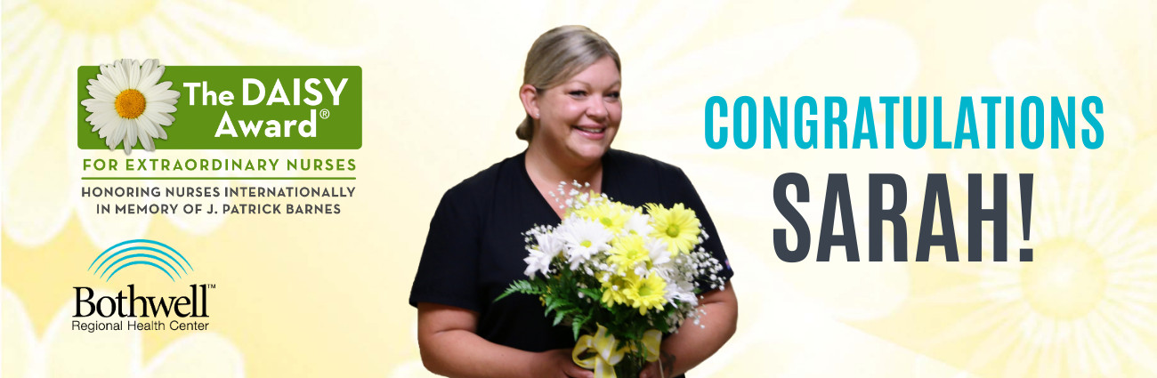Congratulations Sarah Fredrickson, BRHC DAISY Award winner