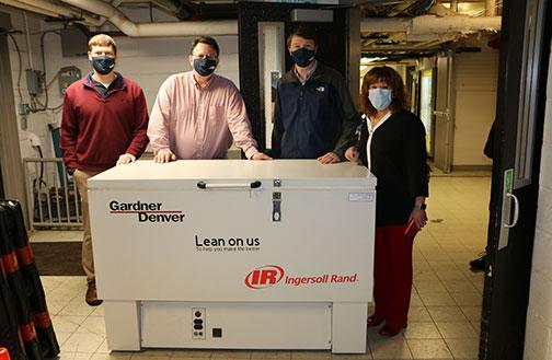 Gardner Denver and Bothwell Team around the subzero freezer