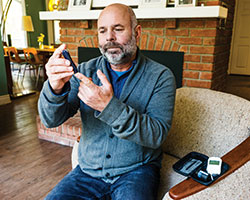 Man participating in Diabetes Education class at Bothwell hospital