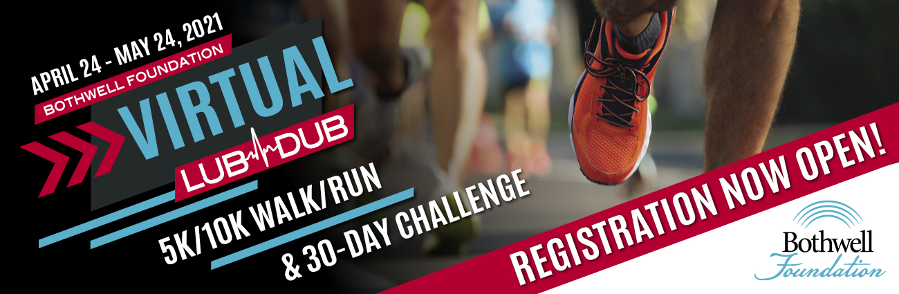 2021 Virtual LubDub 5K/10K Walk/Run & 30-day challenge