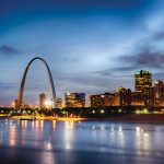 St. Louis arch in the city skyline